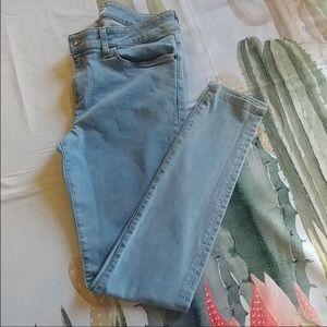 American Apparel classic light wash blue jeans